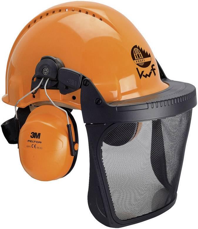 Skyddshjälm för skog med integrerat visir Orange L+