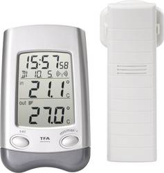 Omtalade TFA Wave Trådlös termometer Silver   Conrad.se DU-47