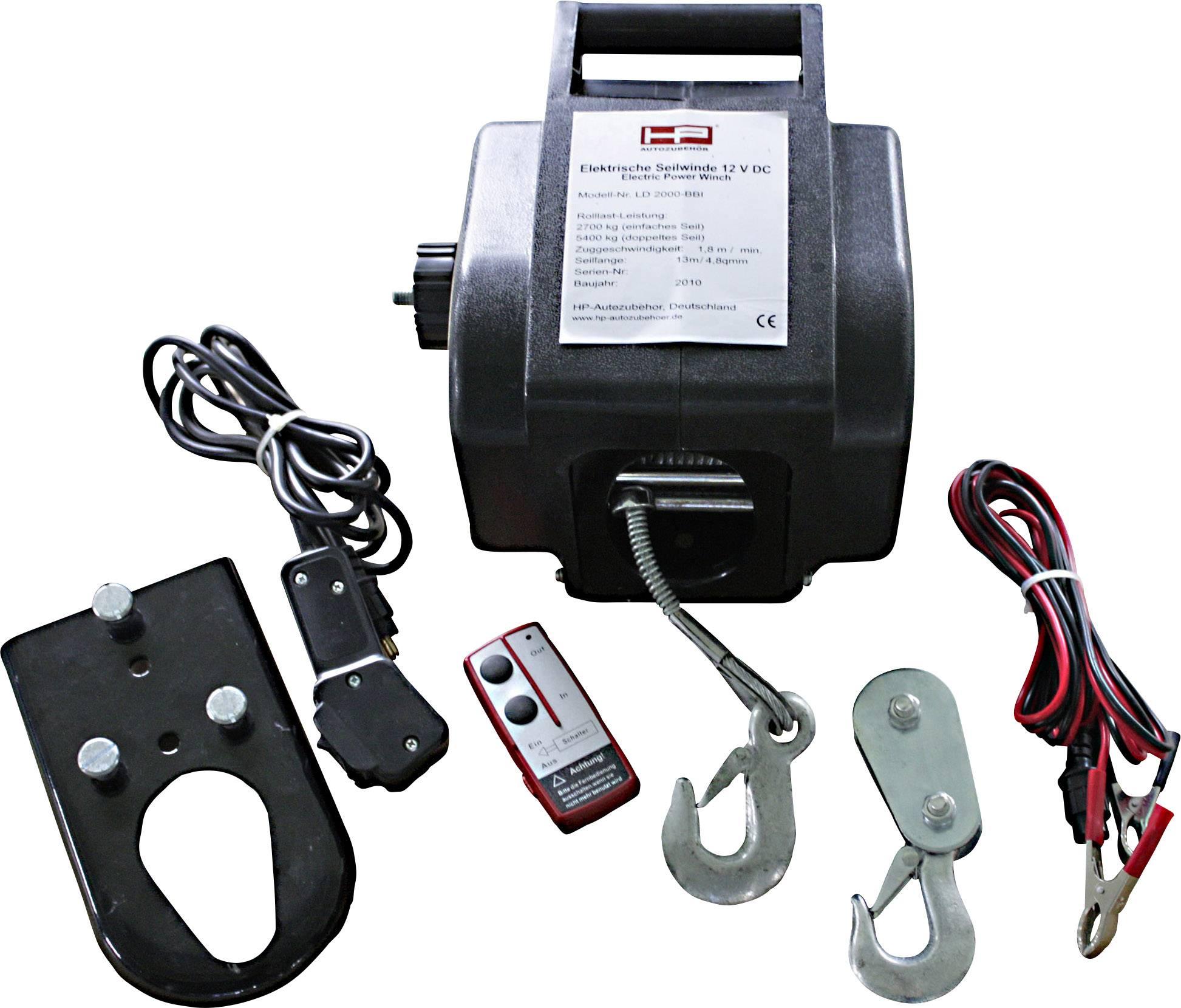 Unika HP Autozubehör Vinsch 20604 Dragkraft (stående)=900 kg Dragkraft LP-67