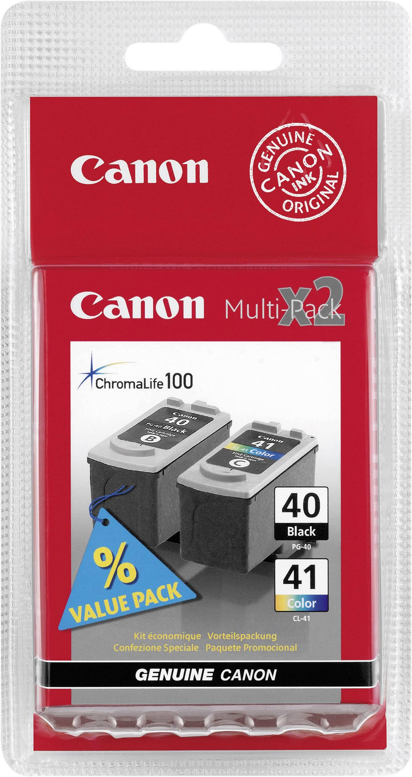 Blckpatron Value Pack Original Canon Pg 40 Cl 41 Kombi Svart Colour Cyan Magenta Gul