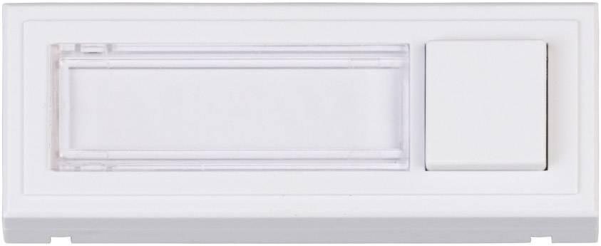 Heidemann 70511 Klingelplatte mit Namensschild 1fach Weiß 24 V/1 A