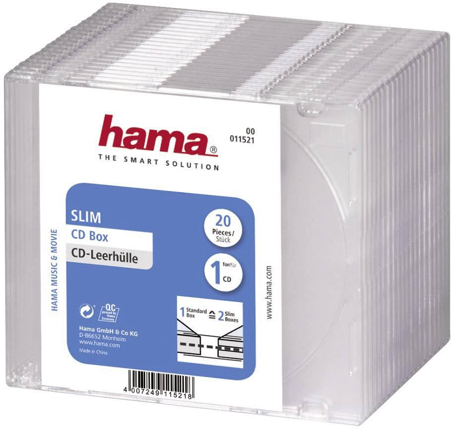 Hama CD Hülle Slim 1 CD/DVD/Blu-Ray Polystyrol T - online bestellen