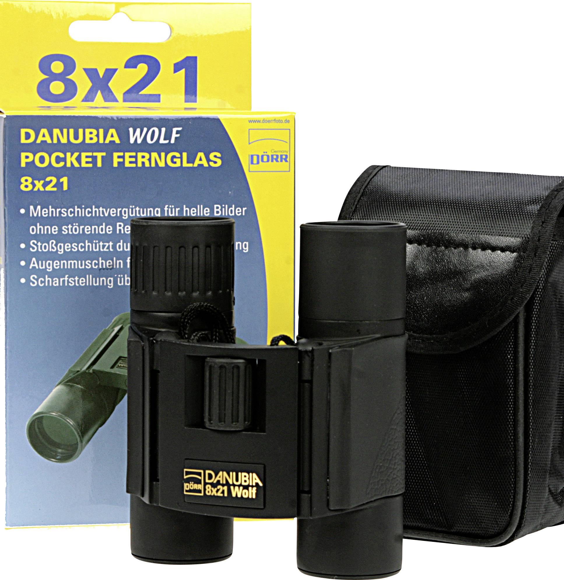 Danubia  Fernglas 8 x 21 mm Schwarz