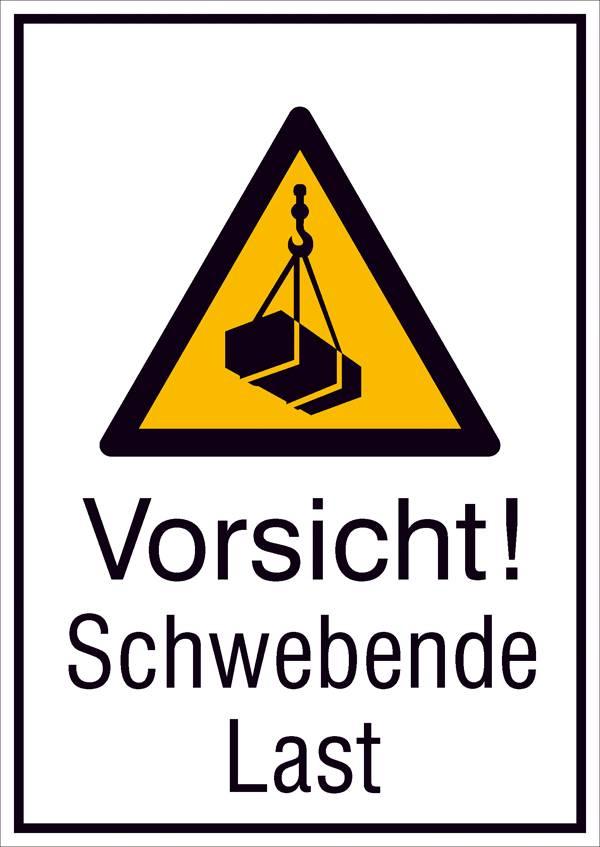 Warn-Kombischild Vorsicht! Schwe ... 131 mm x 185 mm   ISO 7010 1 St.