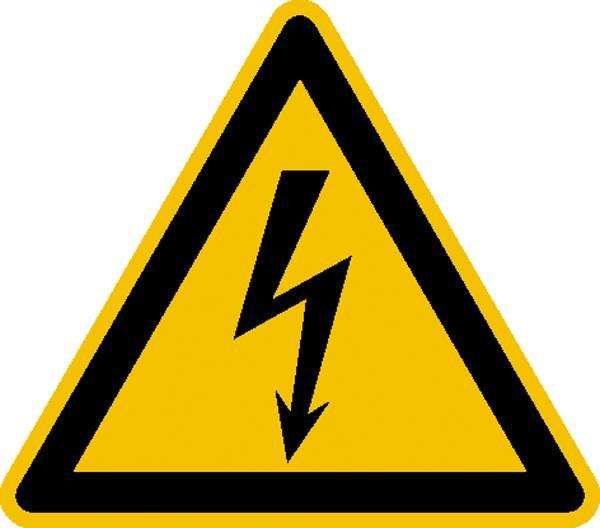 Warnschild Elektrische Spannung  Aluminium   400 mm ISO 7010 1 St.