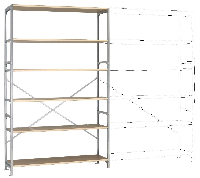 Fachbodenregal-Grundmodul (B x H ... rzinkt Holzboden Manuflex RM2566