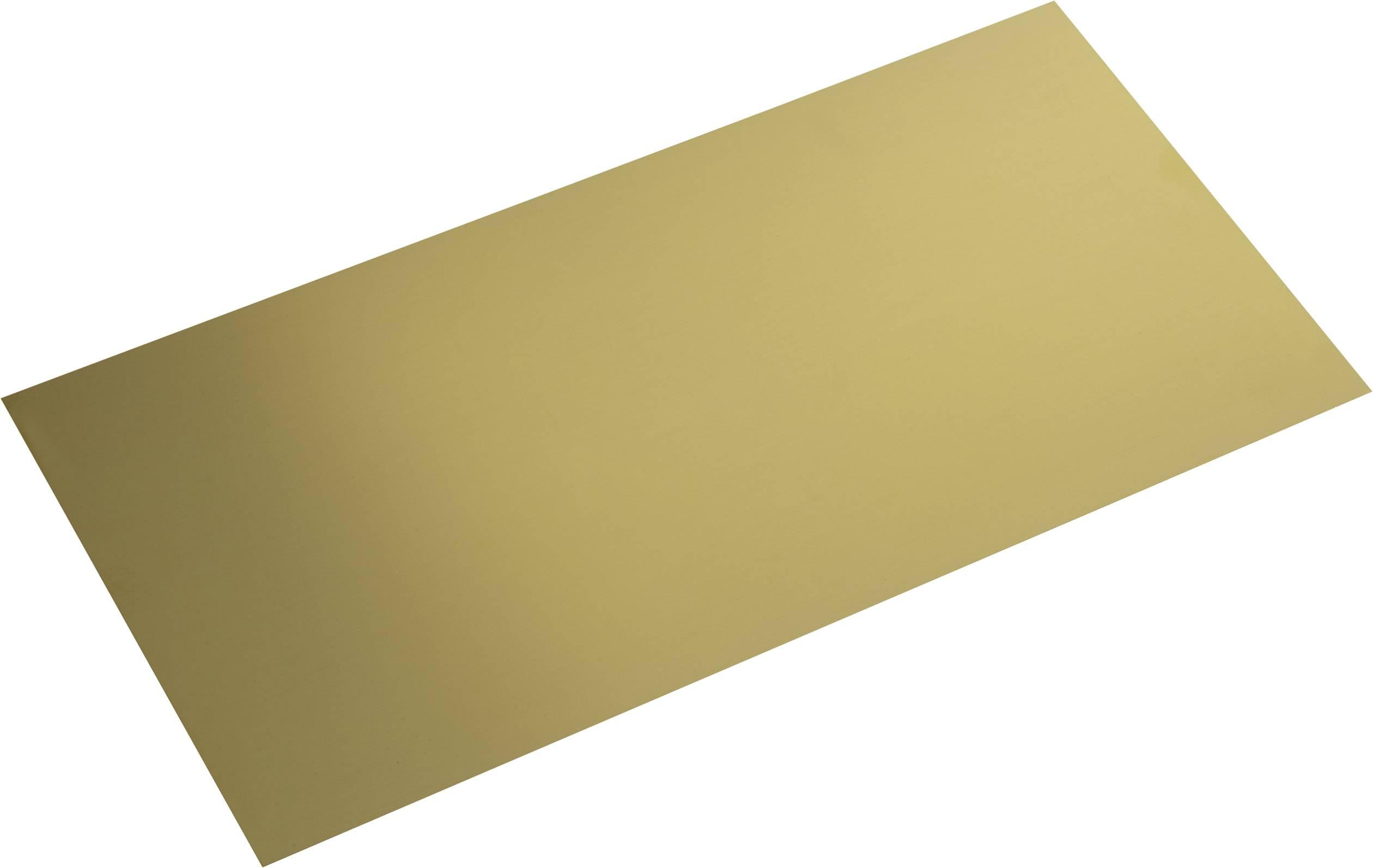 Messing Blech (L x B) 400 mm x 200 mm 1.2 mm 1 St.