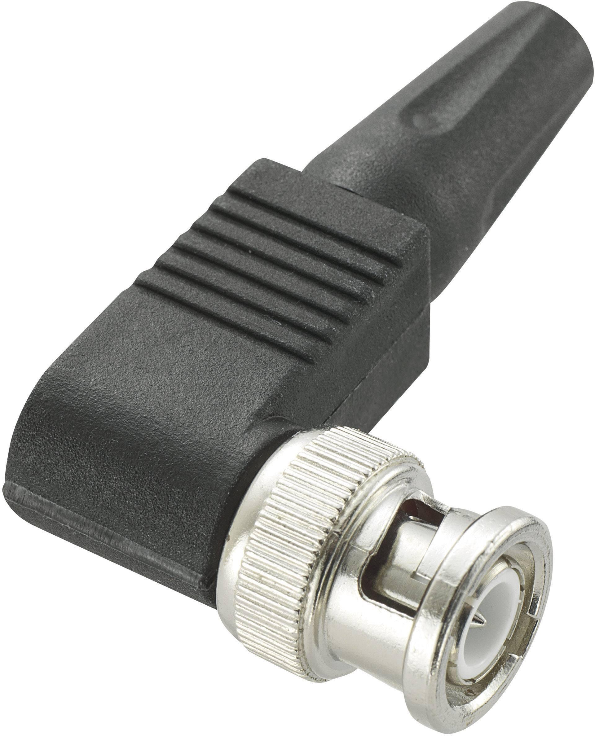 BNC-Steckverbinder Stecker, gewinkelt 50 Ω   1 St.