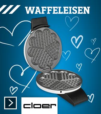 Cloer 1621 Herz-Waffeleisen