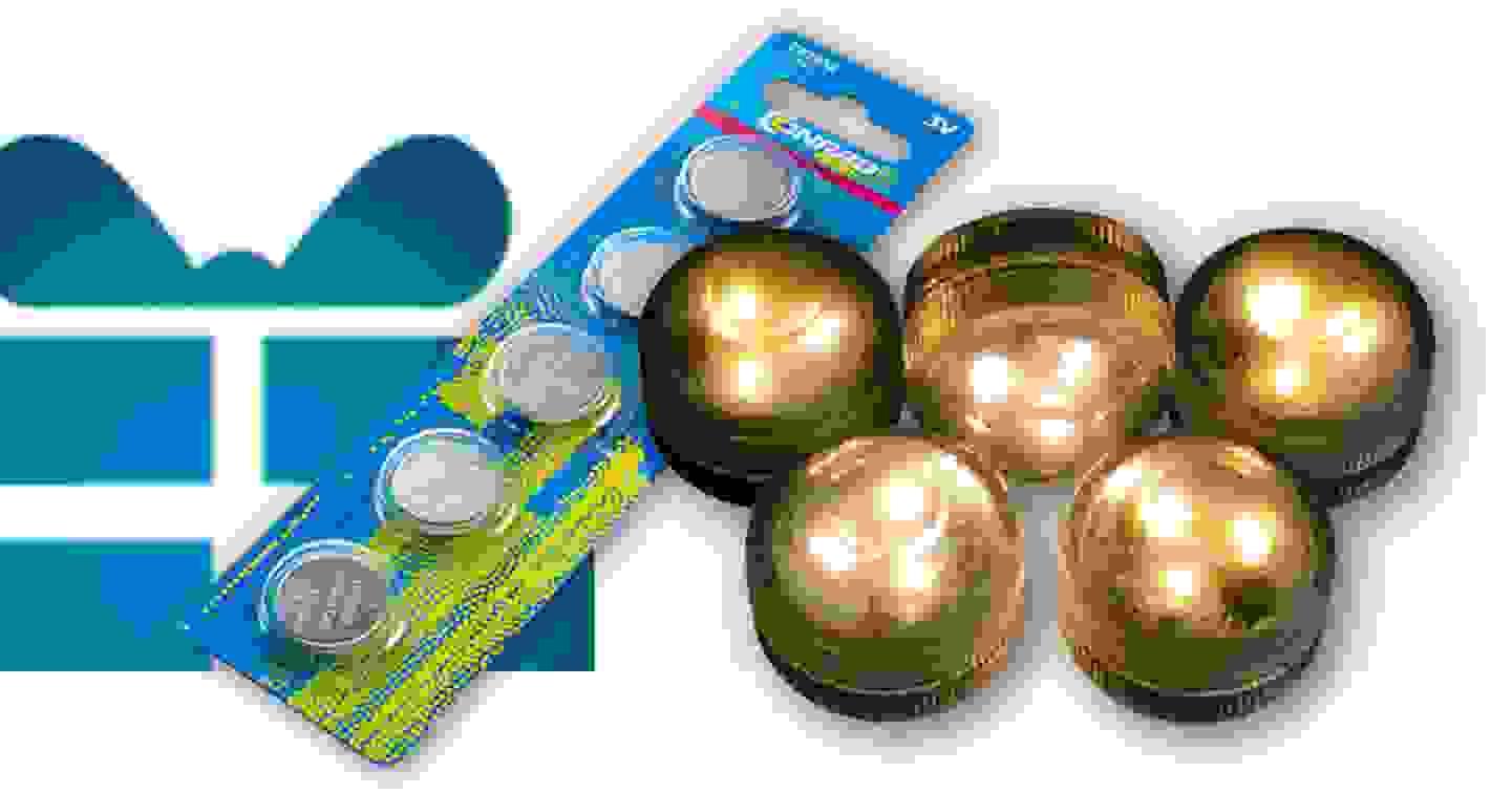 Conrad Energy - 5 St. Knopfzelle und Hellum und 2er Set LED-Teelichter »