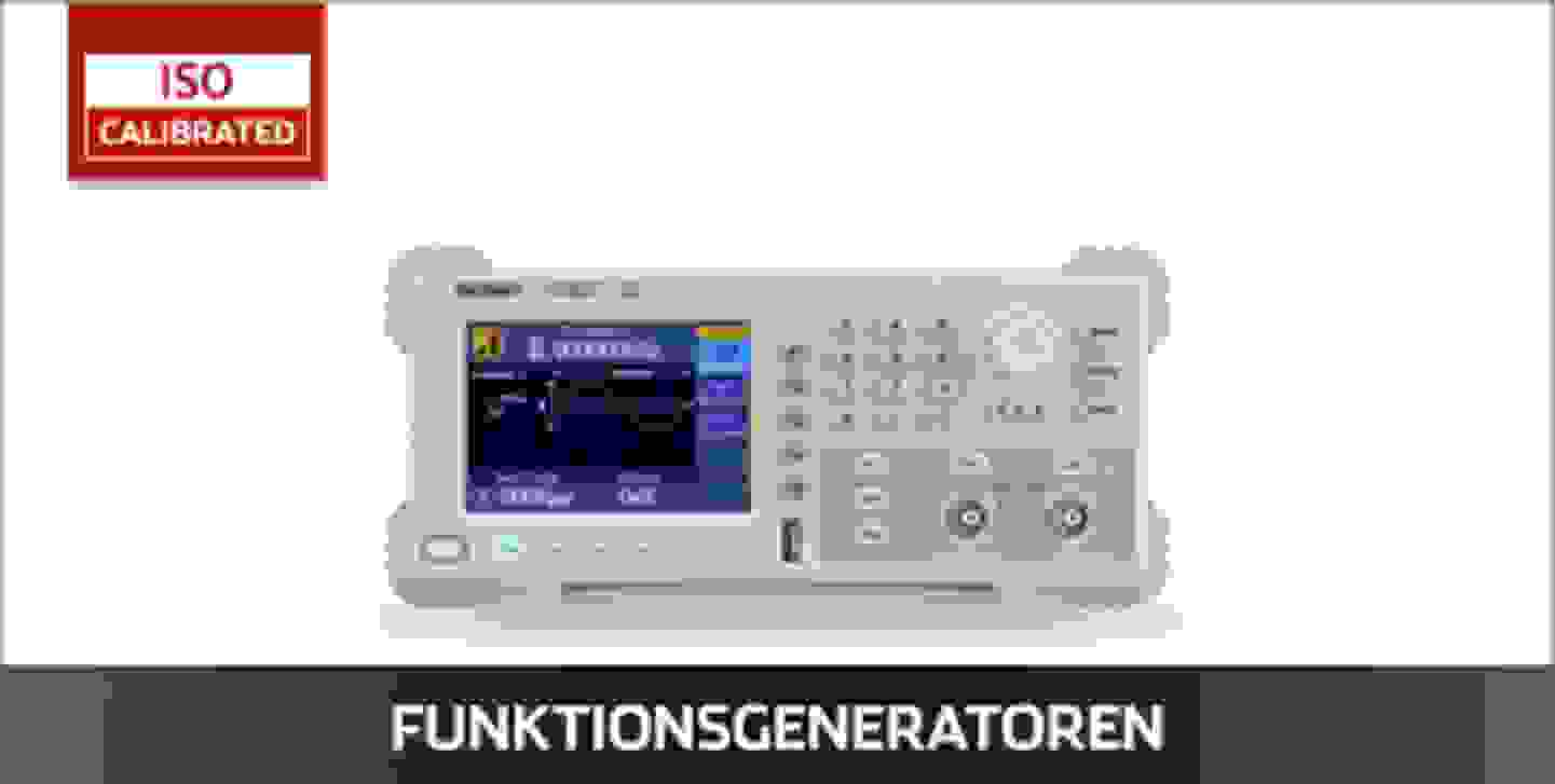 VOLTCRAFT Funktionsgeneratoren ISO kalibriert