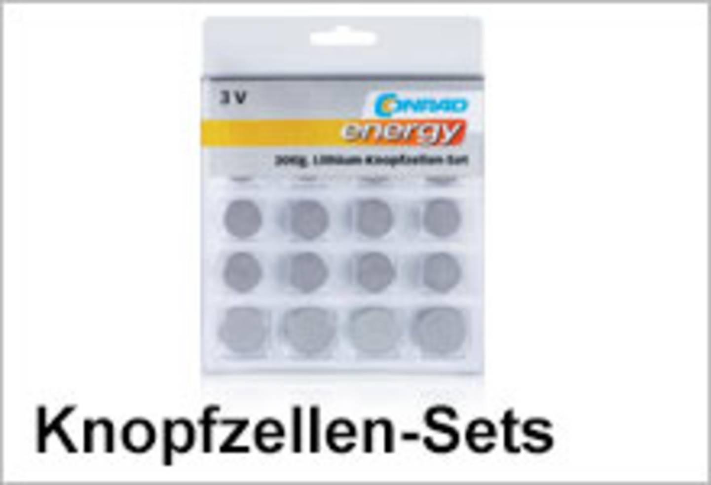Conrad Energy Knopfzellen-Sets