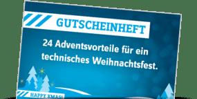Gutscheinheft - 24 Adventsvorteile für ein technisches Weihnachtsfest.