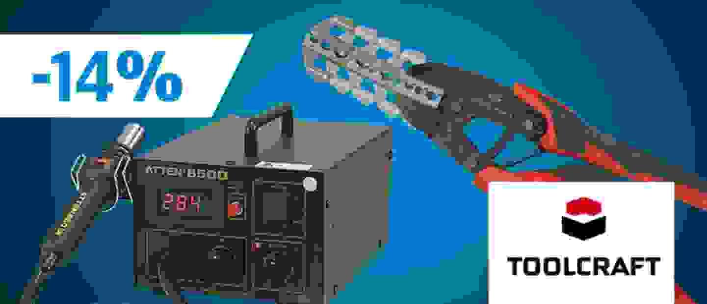 Toolcraft-Sortiment jetzt entdecken und von 14% Rabatt profitieren »