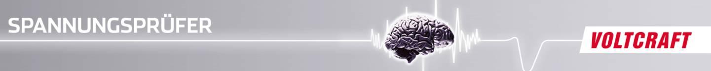 VOLTCRAFT Spannungsprüfer Header
