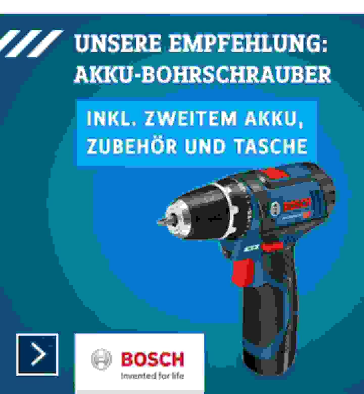 Akku-Bohrschrauber - Bosch