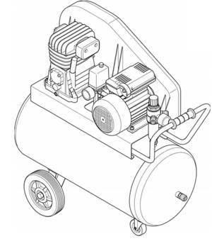 Compressed air compressor