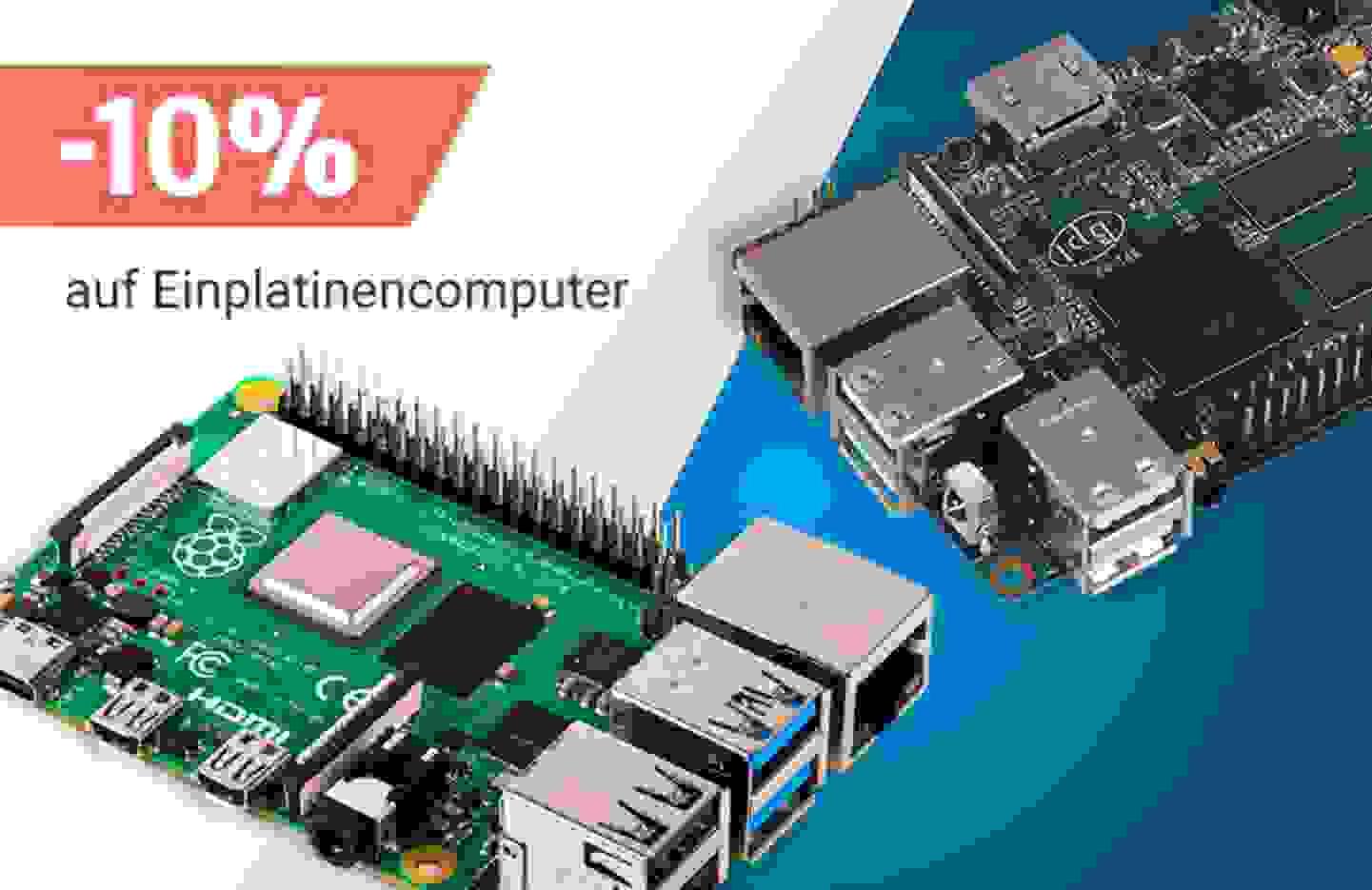 Aktion: 10% Rabatt auf alle Einplatinencomputern »