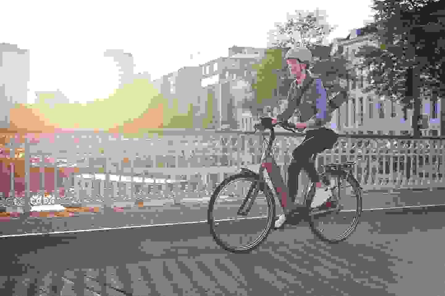 Bosch E-Bike in der Stadt