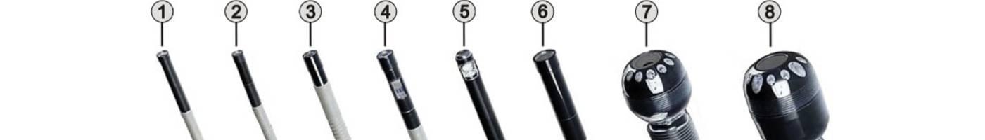 Unterschiedliche Endoskop-Kamerasonden