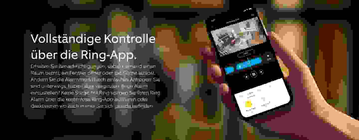 Vollständige Kontrolle  über die Ring-App