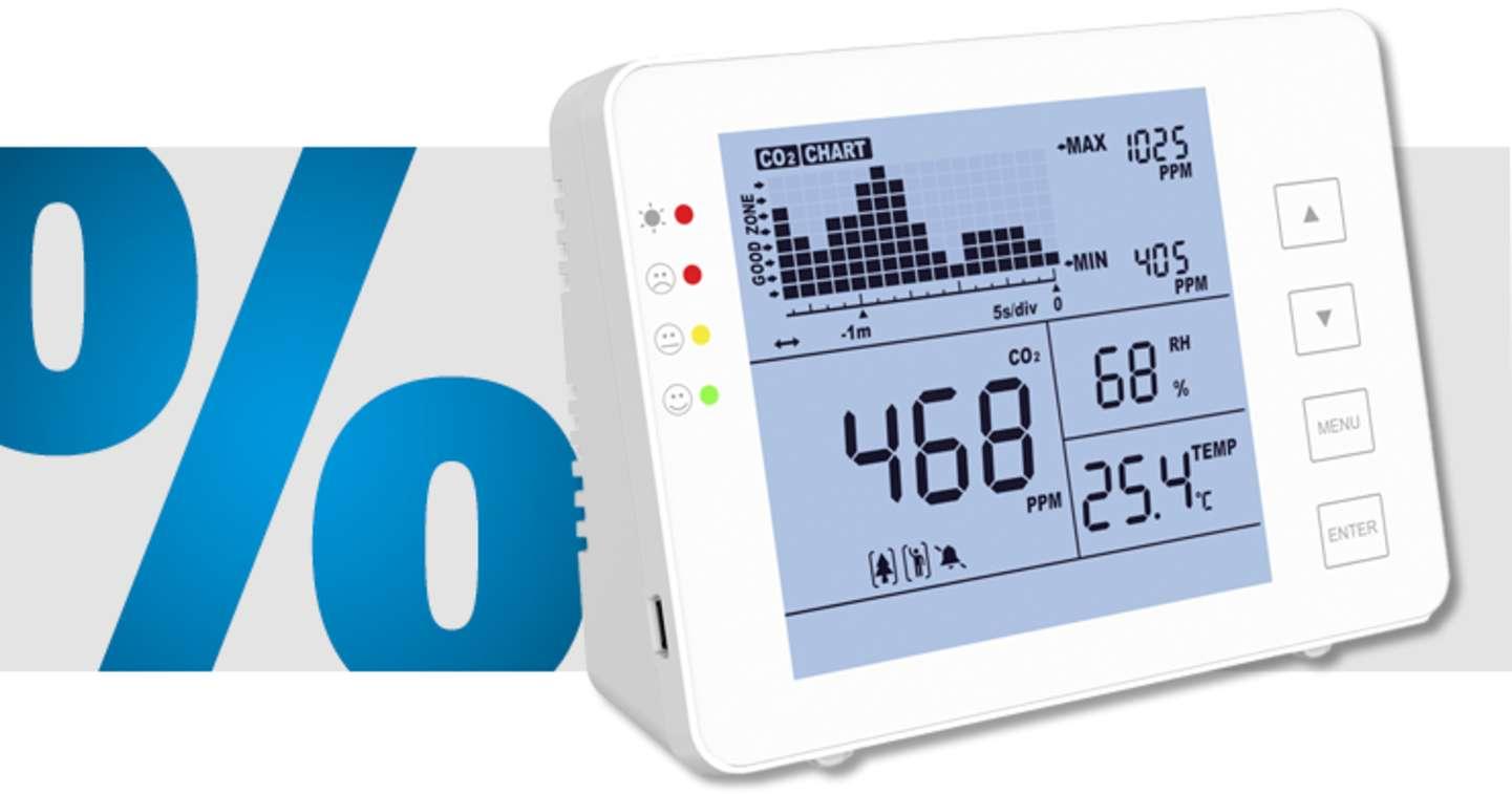 SA - 1200P Kohlendioxid-Messgerät mit Datenloggerfunktion »