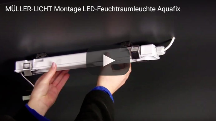 MÜLLER-LICHT Montage LED-Feuchtraumleuchte Aquafix