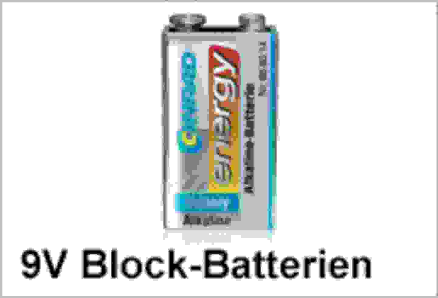 Conrad Energy 9V Block-Batterien