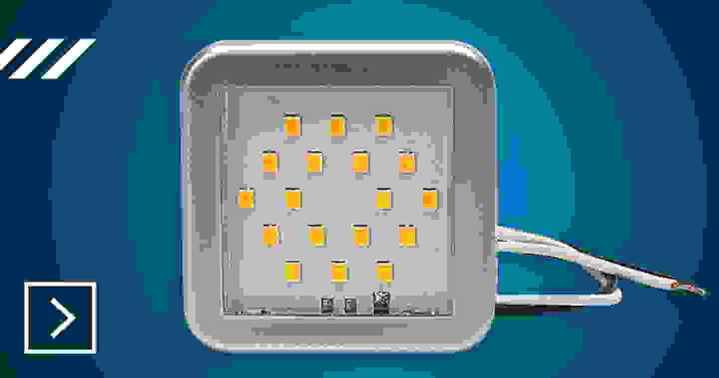 SecoRüt - LED Innenraumleuchte 55 x 55 x 7 mm »