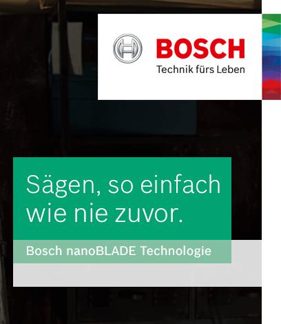 Bosch nanoBlade Technologie