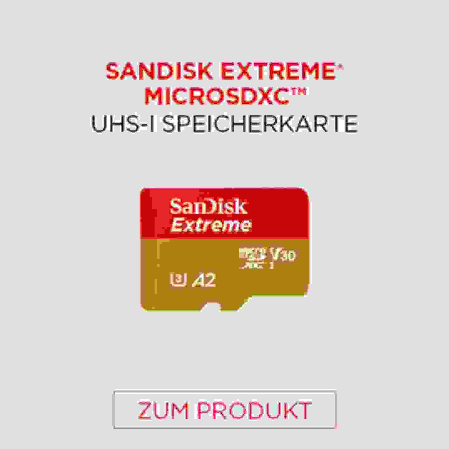 Sandisk Extreme MICROSDXC UHS-I Speicherkarte
