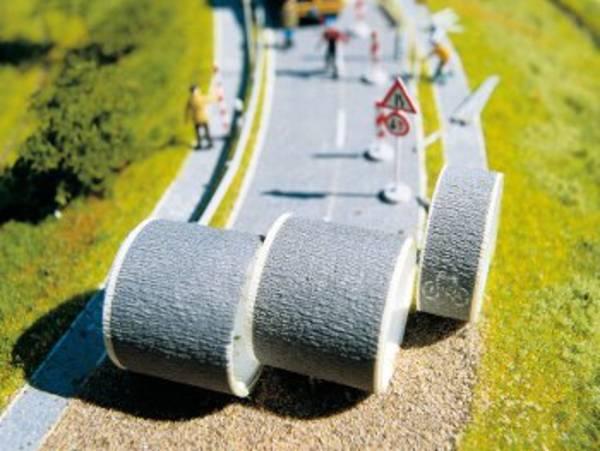 Straßenbau auf der Modellbahnanlage