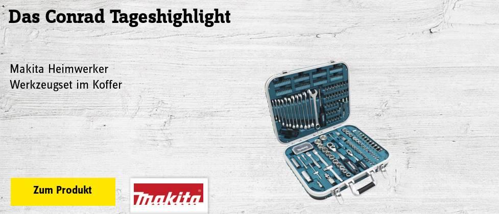 Makita Heimwerker Werkzeugset im Koffer 227teilig
