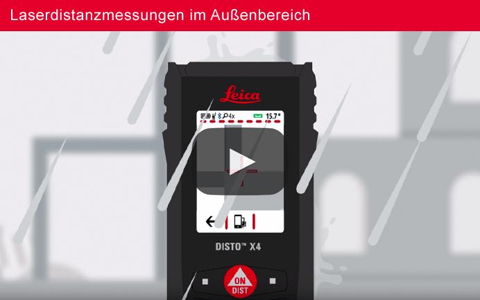 Leica DISTO™ X4 Zielsucher – Deutscher Sprecher