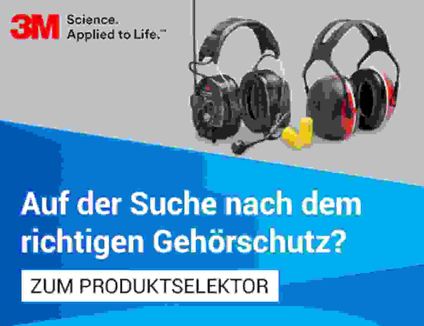 Gehörschutz Produktselektor