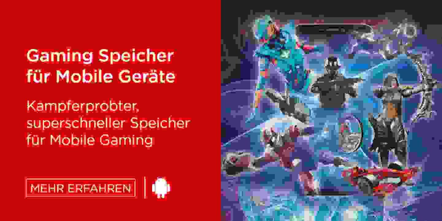 Gaming Speicher für Mobile Geräte