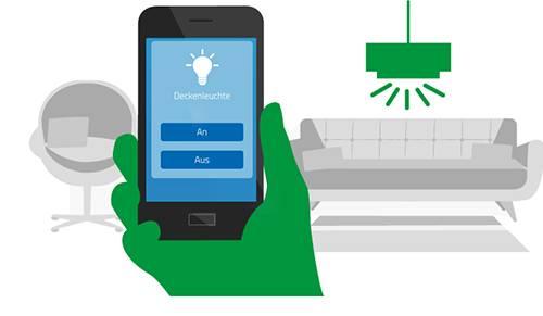 Steuerung per Smarphone und Tablet