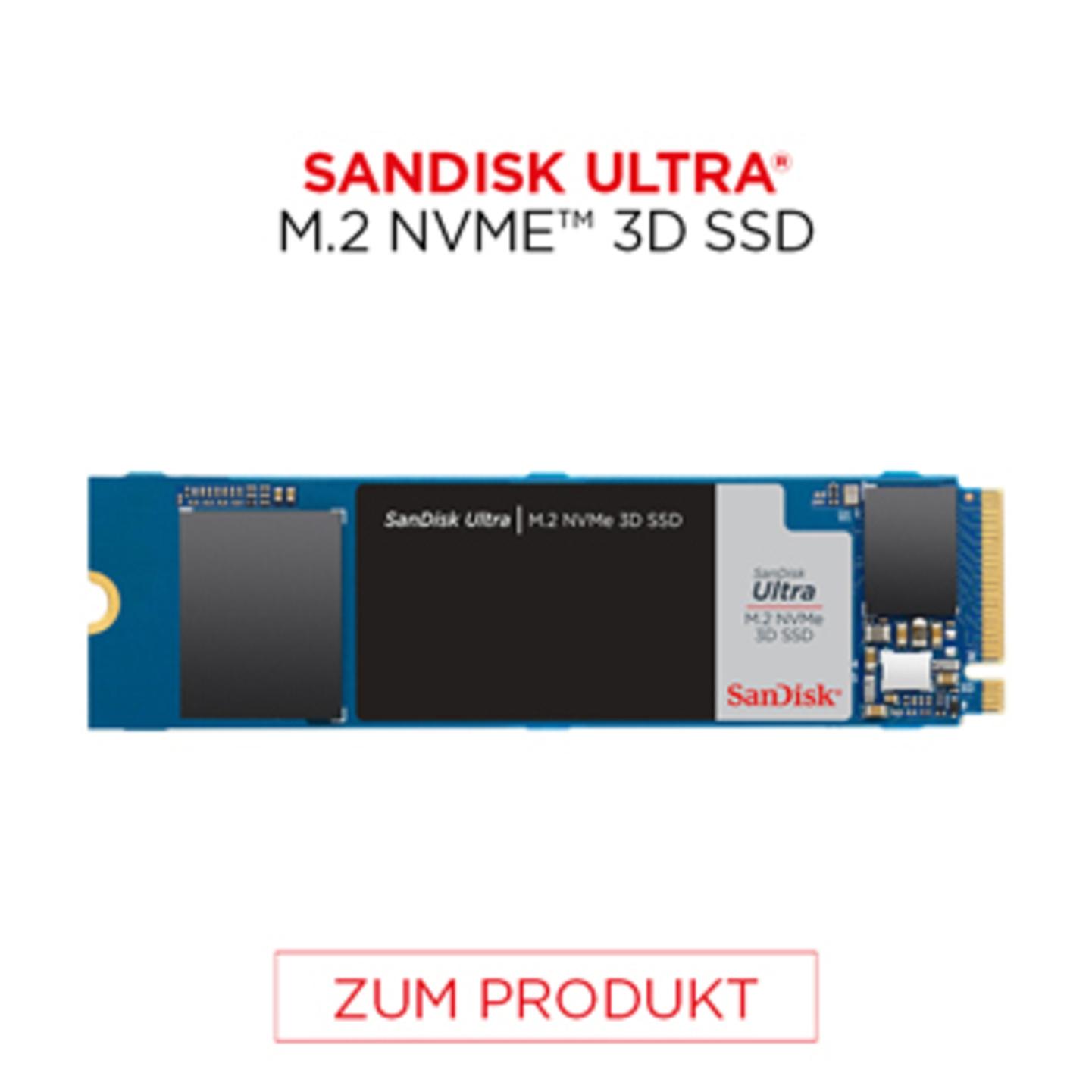 Sandisk Ultra M.2 NVME 3D SSD
