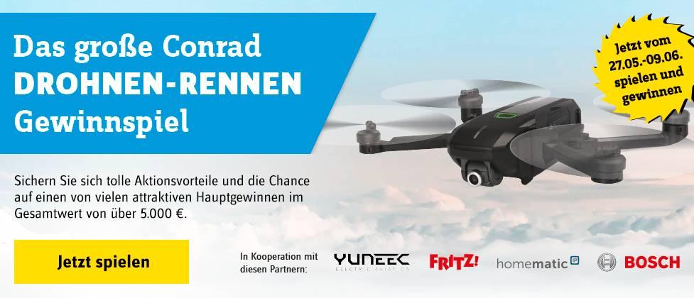 Conrad Drohnen-Rennen Gewinnspiel