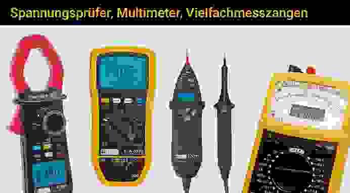 Spannungsprüfer, Multimeter, Vielfachmesszangen