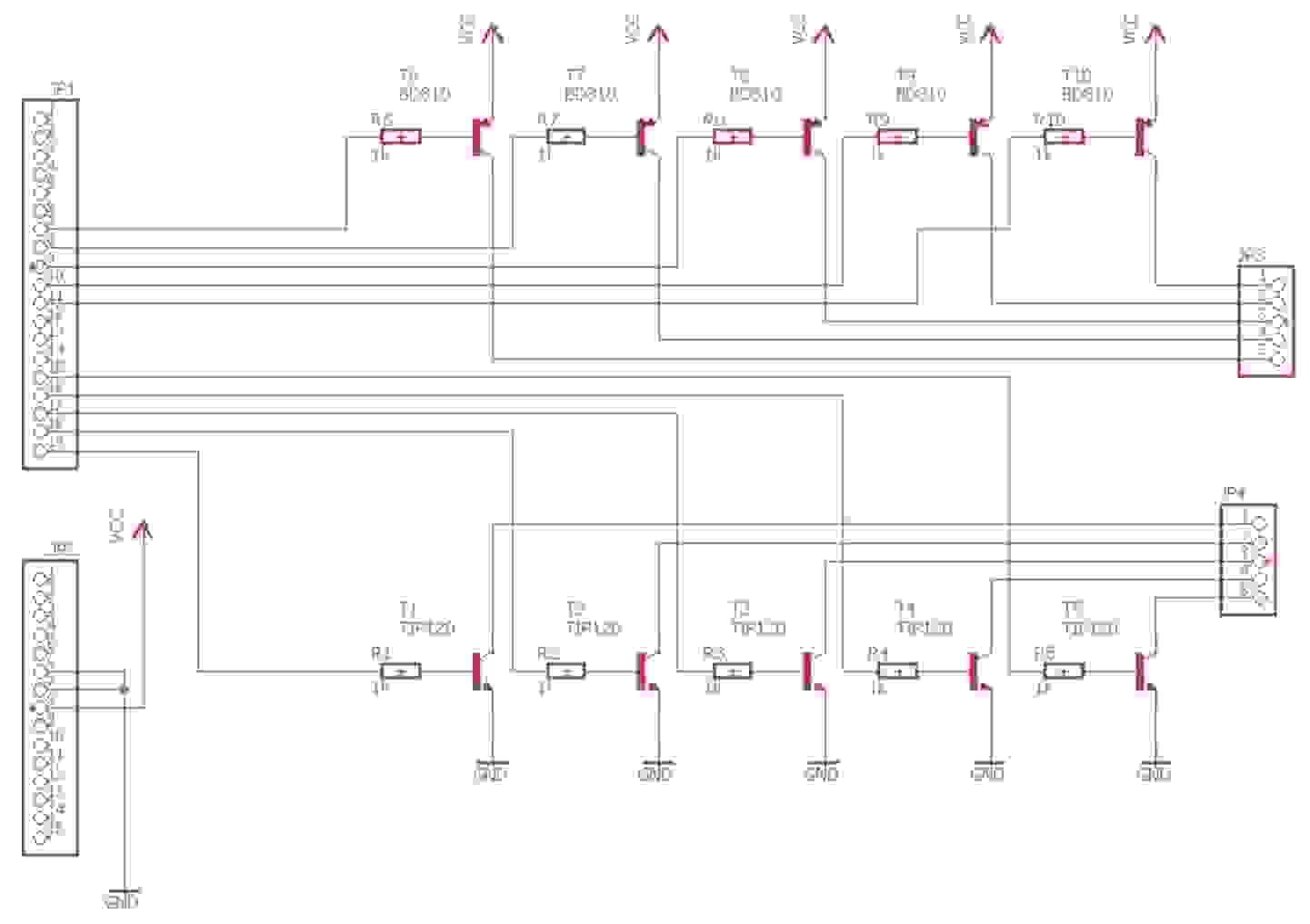 LED Tisch Schaltplan