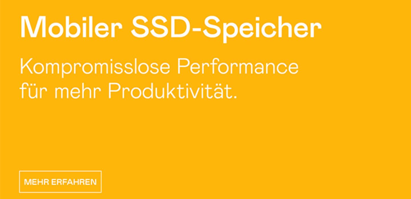 Mobiler SSD Speicher