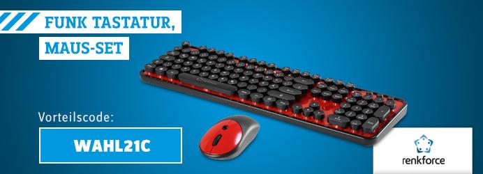 renkforce Tastatur, Maus-Set