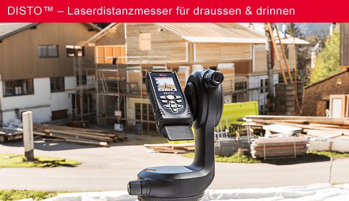 DISTO™ – Laserdistanzmesser für draussen & drinnen