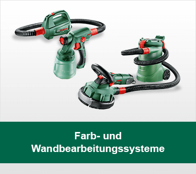 Bosch Farb- und Wandbearbeitungssysteme