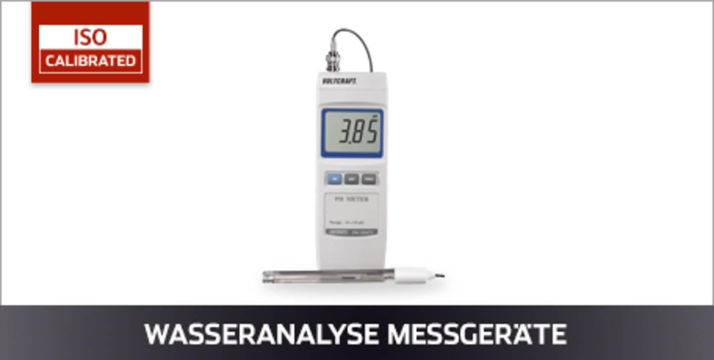 VOLTCRAFT Wasseranalyse Messgeräte ISO kalibriert