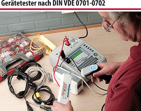Gerätetester nach DIN VDE 0701-0702