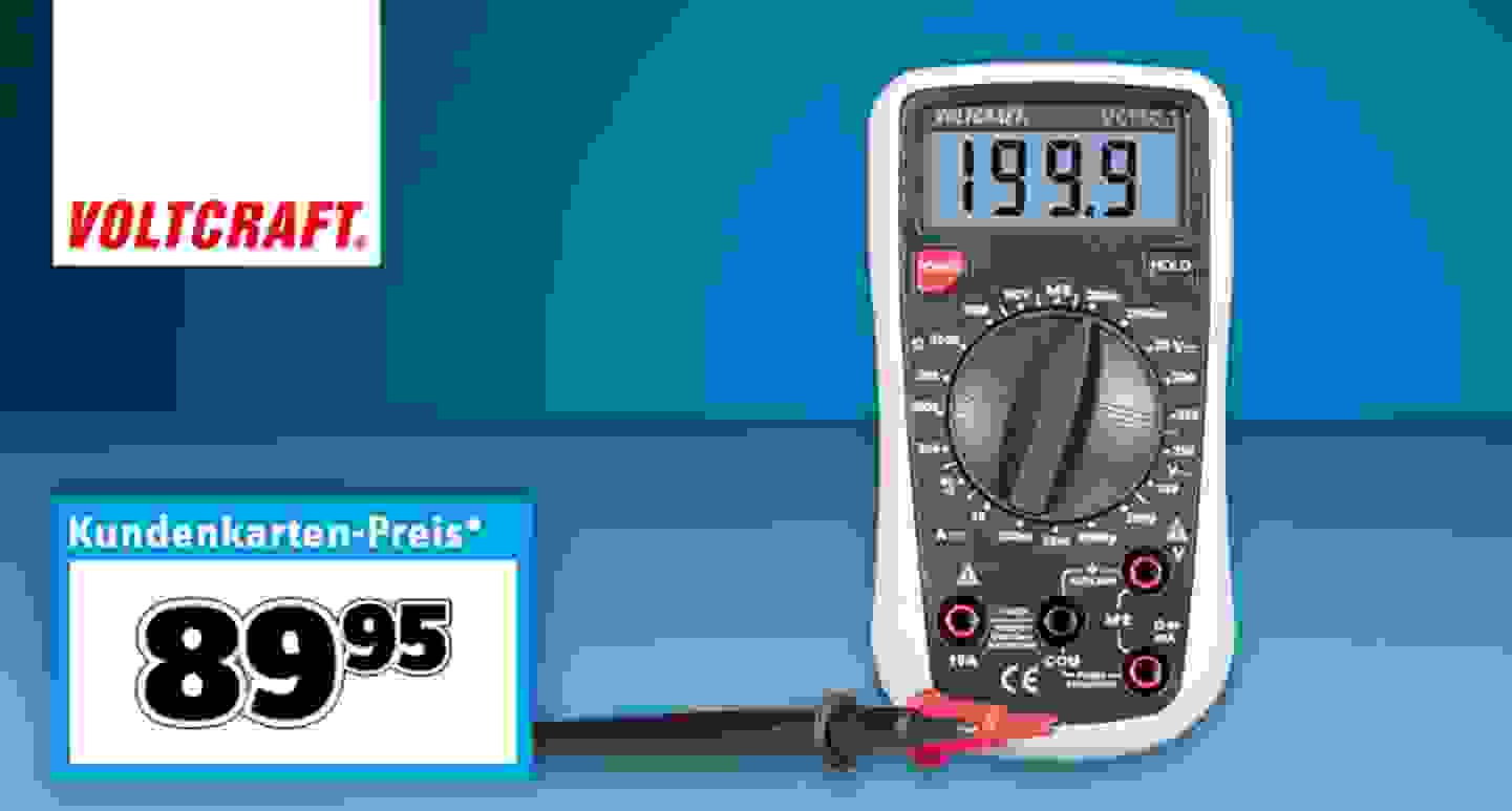VOLTCRAFT - VC130-1 Hand-Multimeter digital CAT III »