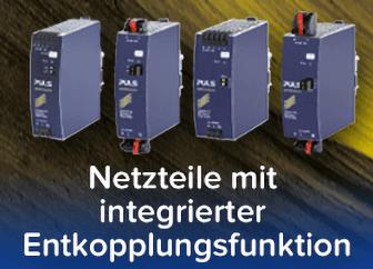 Netzteile mit integrierter Entkopplungsfunktion