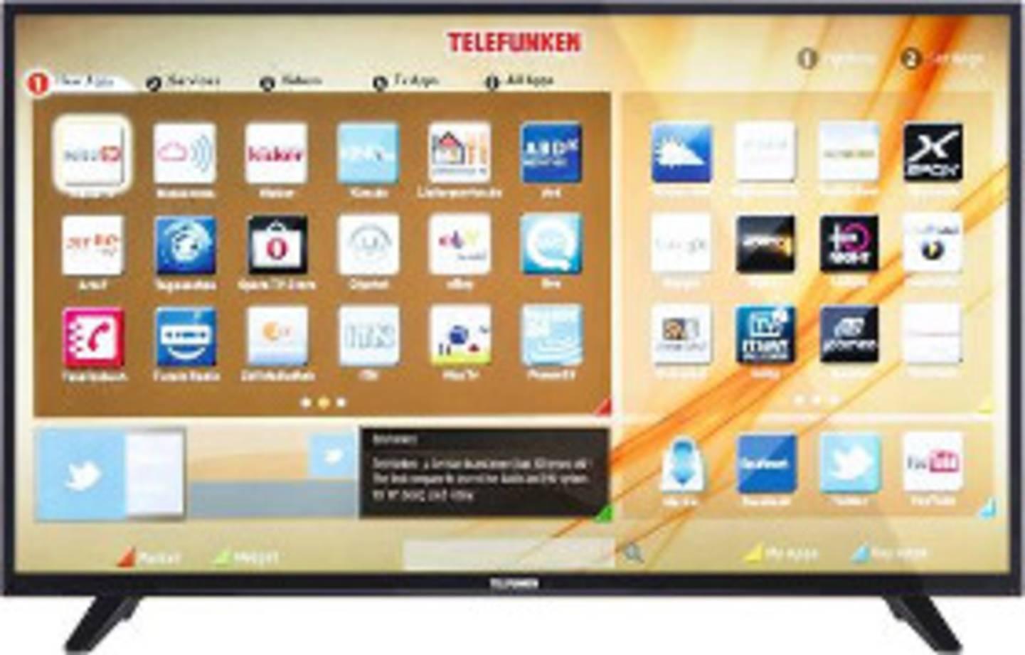 Smart TV mit App Bildschirm